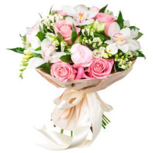 Букеты с орхидеями