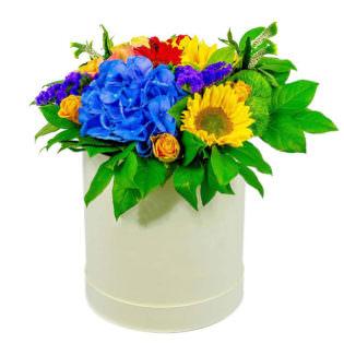 Цветы в коробке «Весеннее настроение»